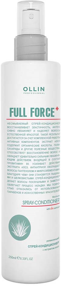 Ollin Full Force Увлажняющий спрей-кондиционер с экстрактом алоэ 250 мл