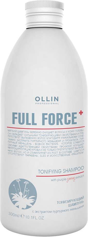 Ollin Тонизирующий шампунь с экстрактом пурпурного женьшеня Full Force Hair Growth Tonic Shampoo 300 мл цены онлайн