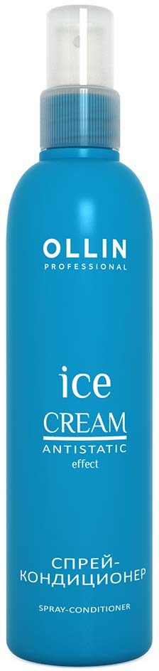 Ollin Спрей-кондиционер Ice Cream Spray Conditioner 250 мл ollin спрей кондиционер выравнивающий структуру волос service line iq spray 150 мл