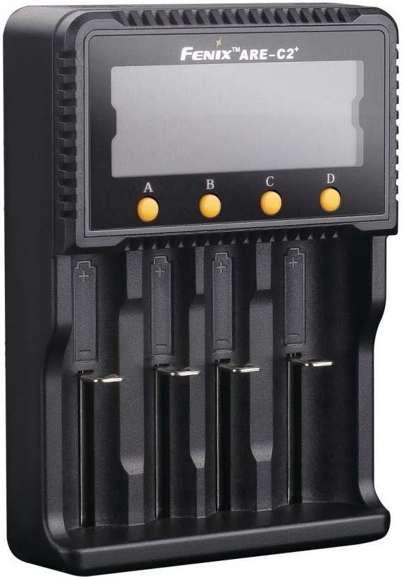 Зарядное устройство для аккумуляторов Fenix Charger ARE-C2 Plus, R41599, черный зарядное устройство fenix are c2