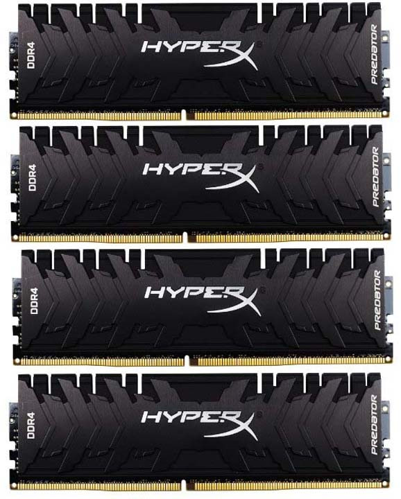 Модуль оперативной памяти Kingston HyperX Predator DDR4 DIMM 32Гб (4х8Гб) 2400MHz CL12, HX424C12PB3K4/32