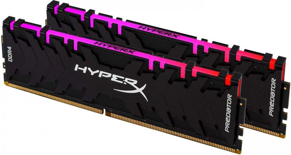 Модуль оперативной памяти Kingston HyperX Predator RGB DDR4 DIMM 16Гб (2х8Гб) 2933MHz CL15, HX429C15PB3AK2/16