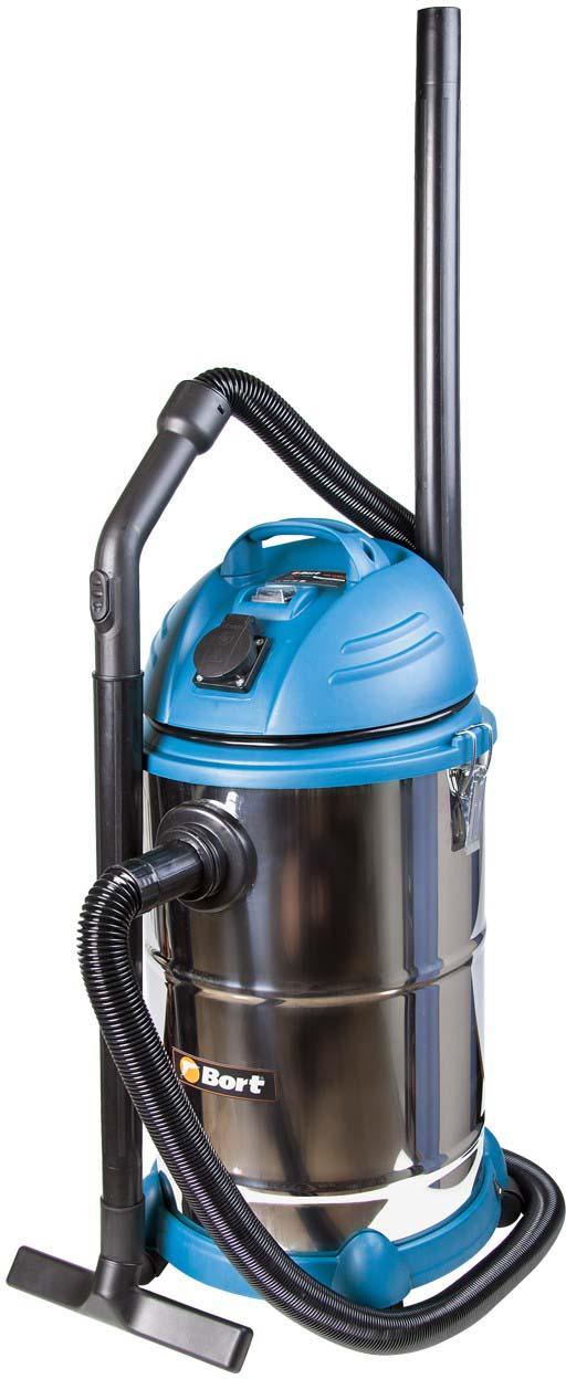 Пылесос для сухой и влажной уборки Bort BSS-1530N-Pro пылесос хозяйственный сухой и влажной уборки shop vac super 30 i