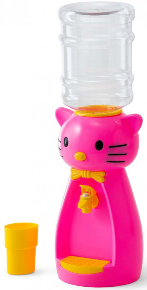 Кулер для воды Vatten Kids Kitty Pink со стаканчиком, 4918, розовый Vatten