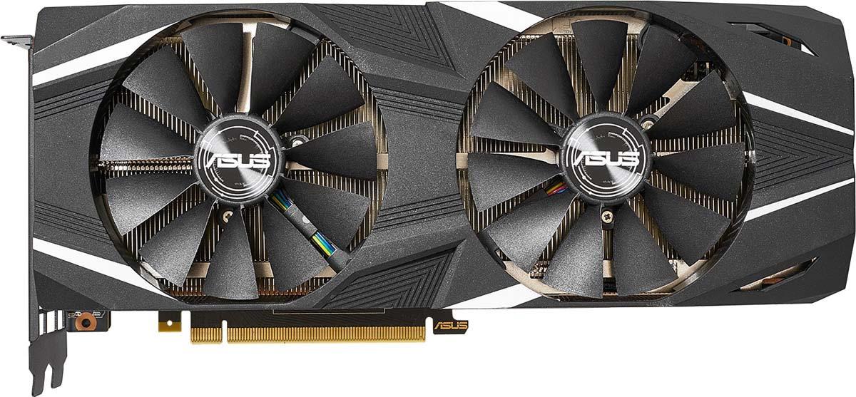 Видеокарта nVidia GeForce RTX2080 Ti ASUS PCI-E 11264Mb, DUAL-RTX2080TI-O11G видеокарта asus rog strix geforce gtx 1080 ti 11gb