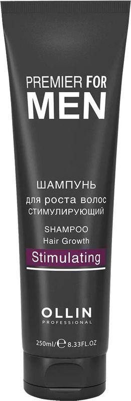 Ollin Шампунь для роста волос стимулирующий Premier For Men Shampoo Hair Growth Stimulating 250 мл ollin professional premier for men шампунь для волос и тела освежающий shampoo hair