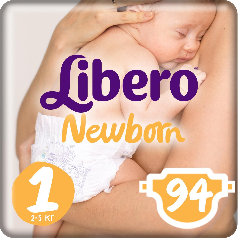 Libero Подгузники Newborn Size 1 (2-5 кг) 94 шт подгузники libero подгузники baby soft newborn 3 6 кг 94 шт