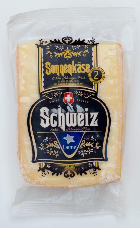 Сыр Laime Sonnenkase полутвердый, 55%, 180 г