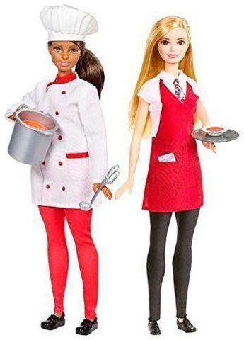 Игровой набор с куклой Mattel Барби Карьера - Ресторан mattel barbie fdj19 барби игровой набор чаепитие в сладкограде