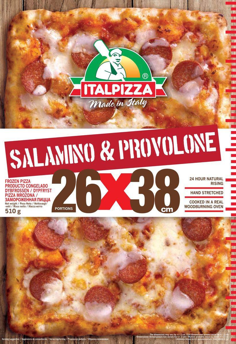 Пицца Italpizza Салями и сыр Проволоне, 510 г casa nostra пицца с ветчиной и сыром 350 г