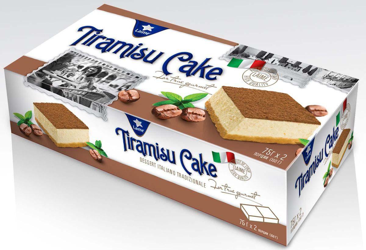 Торт-пирожное Laime Тирамису, 2 шт по 75 г десерт laime панна котта 2 шт по 100 г
