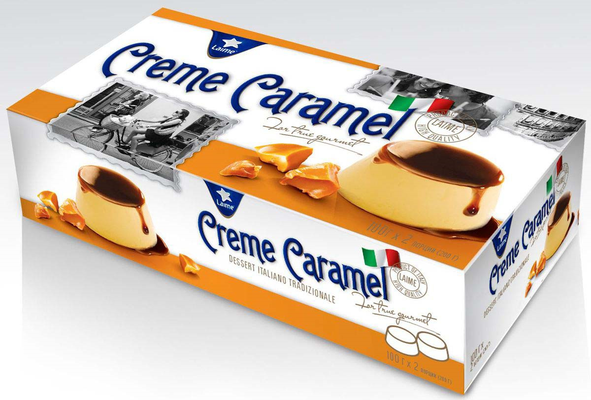 Десерт Laime Крем Карамель, 2 шт по 100 г десерт laime панна котта 2 шт по 100 г