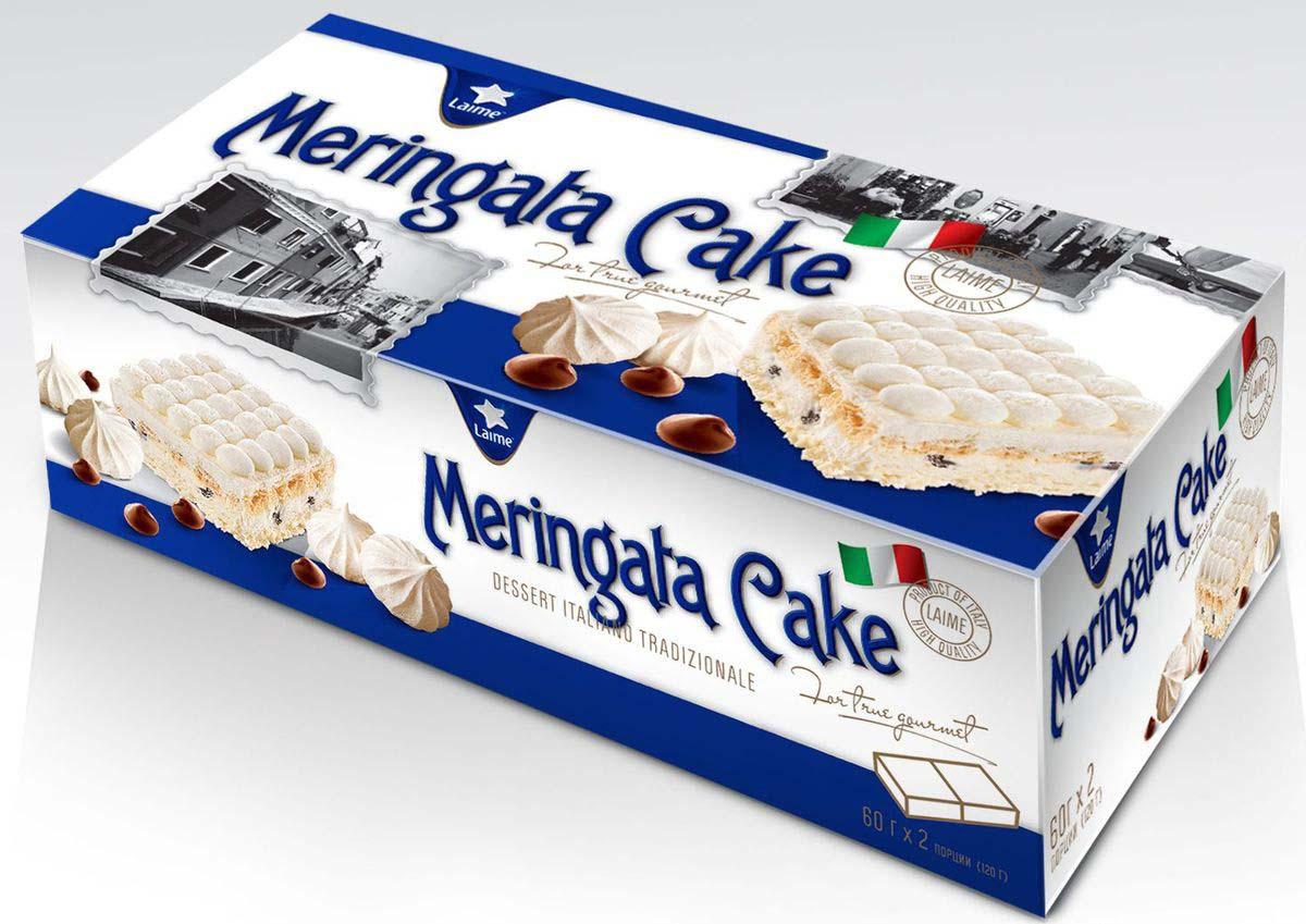Торт Laime Мерингата, 2 шт по 60 г десерт laime панна котта 2 шт по 100 г