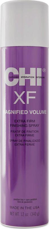 Лак для волос CHI Magnified Volume, экстра сильная фиксация, 340 г chi мини лак усиленный объем magnified volume 50г