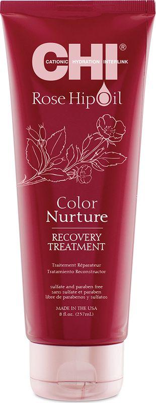 Маска для волос CHI Rosehip Oil Поддержание цвета, 237 млCHIRHIT6Питательное масло розы глубоко кондиционирует поврежденные участки структуры окрашенных волос. Заполняет влагой путем покрытия каждой пряди. Питает витамином С и антиоксидантами. Предотвращает сухость и ломкость волос.