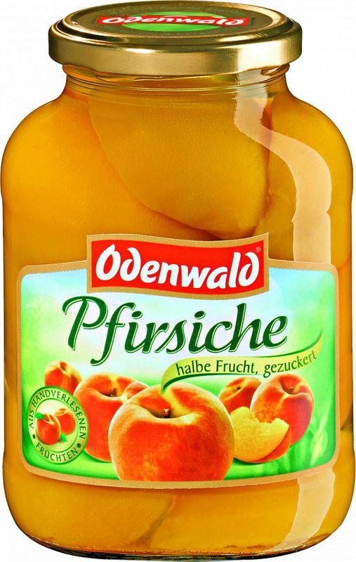 Фруктовые консервы Odenwald Персики половинки в сиропе, 580 мл