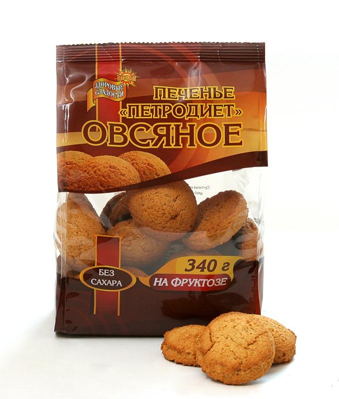 Печенье ПЕТРОДИЕТ Овсяное на фруктозе смесь для выпечки почти печенье матча шоколад кокос 370 г