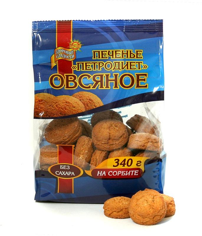Печенье ПЕТРОДИЕТ Овсяное на сорбите смесь для выпечки почти печенье матча шоколад кокос 370 г