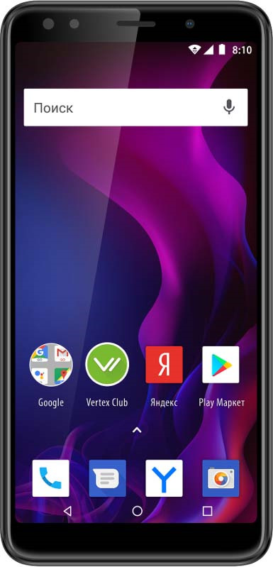 Смартфон Vertex Impress Zeon 4G 8 GB, графит смартфон vertex impress ra 4g gold