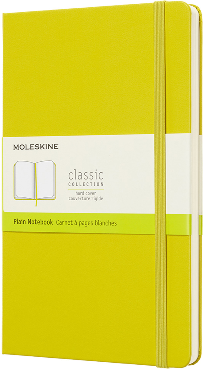 Блокнот Moleskine CLASSIC, 240 листов, нелинованный, цвет: желтый, 130х210 мм еженедельник moleskine classic wkly large 130х210мм 144стр красный