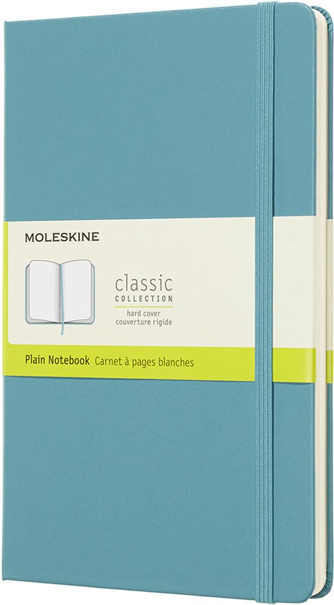 Блокнот Moleskine CLASSIC SOFT, 192 листа, нелинованный, цвет: голубой, 130х210 мм moleskine блокнот classic large 13 x 21 см 120 листов нелинованный цвет темно синий