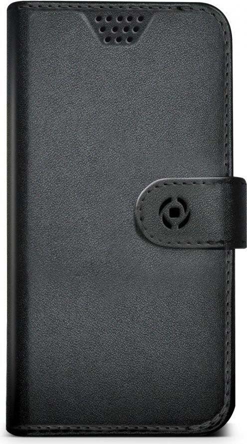 Чехол для сотового телефона Celly Wally Unica универсальный 3,5-4, WALLYUNIMBK, черный чехол книжка micromax mmx q3551 черный