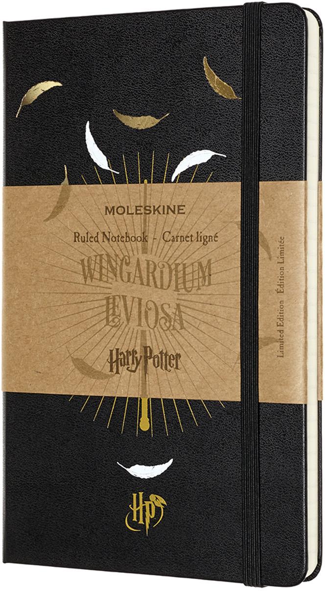 Блокнот Moleskine Limited Edition Harry Potter, 192 листа, линейка, цвет: черный, 130х210 мм блокнот moleskine limited edition super mario pocket 90x140мм 192стр линейка цвет зеленый