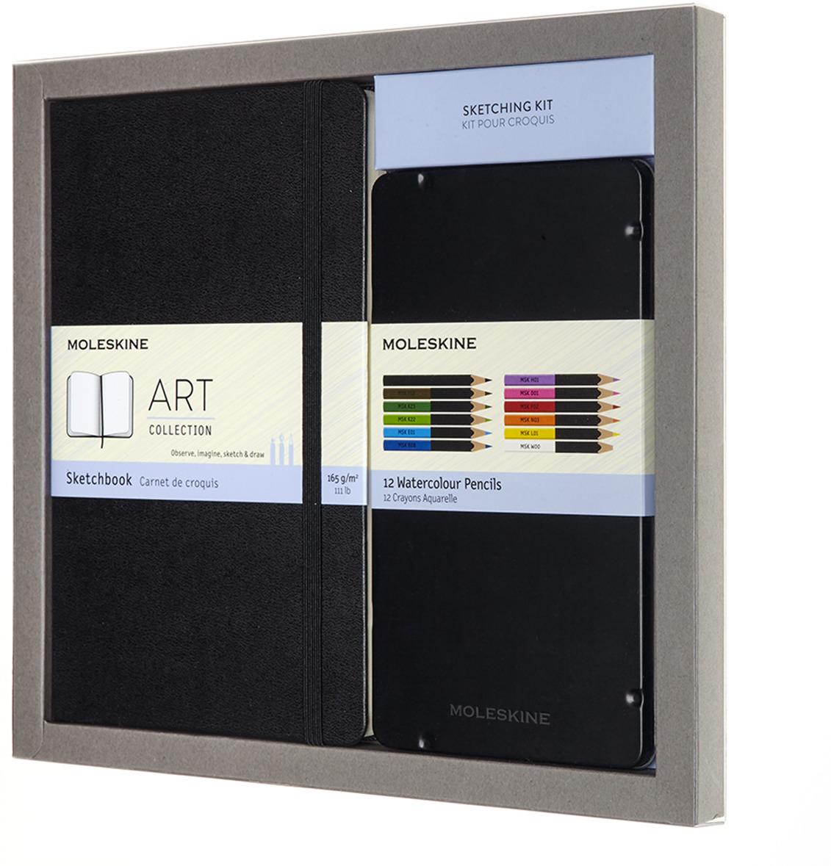 Набор Moleskine Art Collection Sketching, блокнот для рисования, акварельные карандаши, нелинованный, цвет: черный встраиваемый светильник paulmann premium line daz 92681