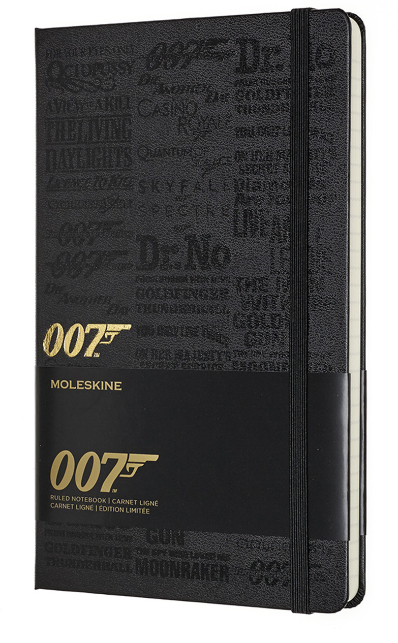 Блокнот Moleskine Limited Edition James Bond, 192 листа, линейка, цвет: черный, 130х210 мм блокнот moleskine limited edition transformers large 130х210мм 240стр линейка optimus prime