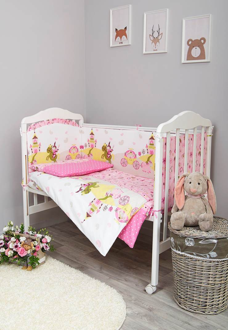 Комплект белья для новорожденных Сонный гномик Золушка, 607_2, розовый
