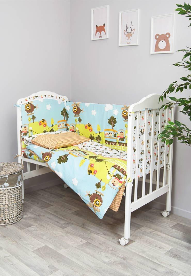 цена Комплект белья для новорожденных Сонный гномик Каникулы, 608_1, голубой онлайн в 2017 году