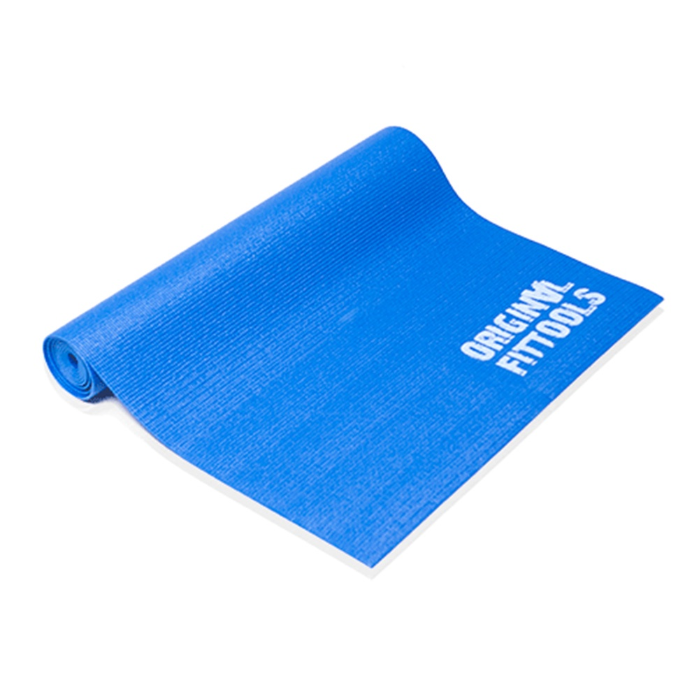 цена на Коврик для йоги и фитнеса Original FitTools FT-YGM-3, синий