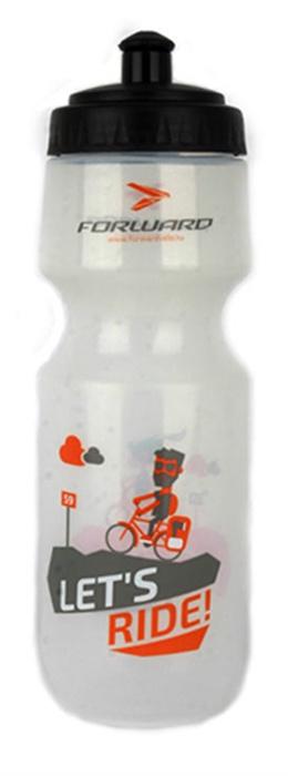 Фляга велосипедная FORWARD JPD-B75, RWBJPDB75001, белый фляга elite nomo 750 мл пищевой пластик белый el0173002