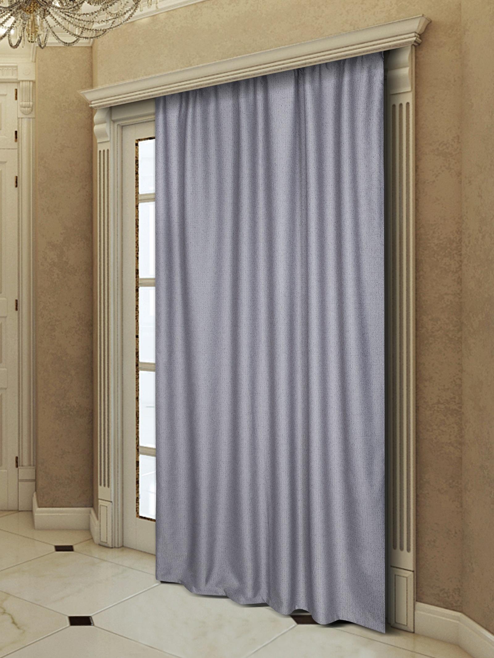 Портьера Zlata Korunka 777366, фиолетовый, серый цена