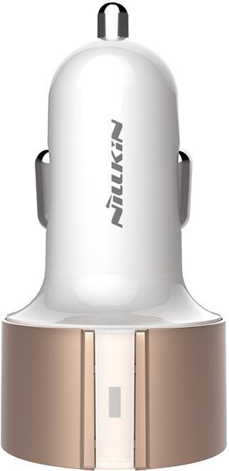Автомобильное зарядное устройство Nillkin Vigor Car Charger, золотой автомобильное зарядное устройство nillkin celerity qc3 0 золотой 6902048139831