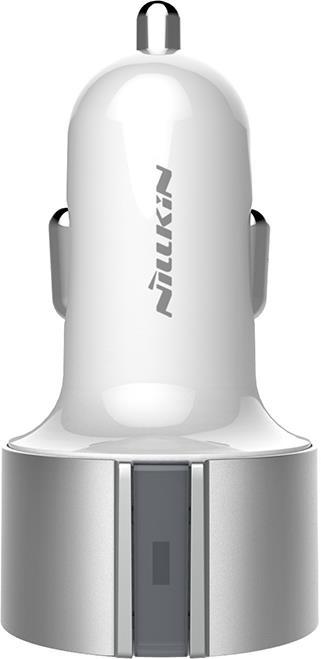Автомобильное зарядное устройство Nillkin Vigor Car Charger, серебристый автомобильное зарядное устройство nillkin celerity qc3 0 золотой 6902048139831