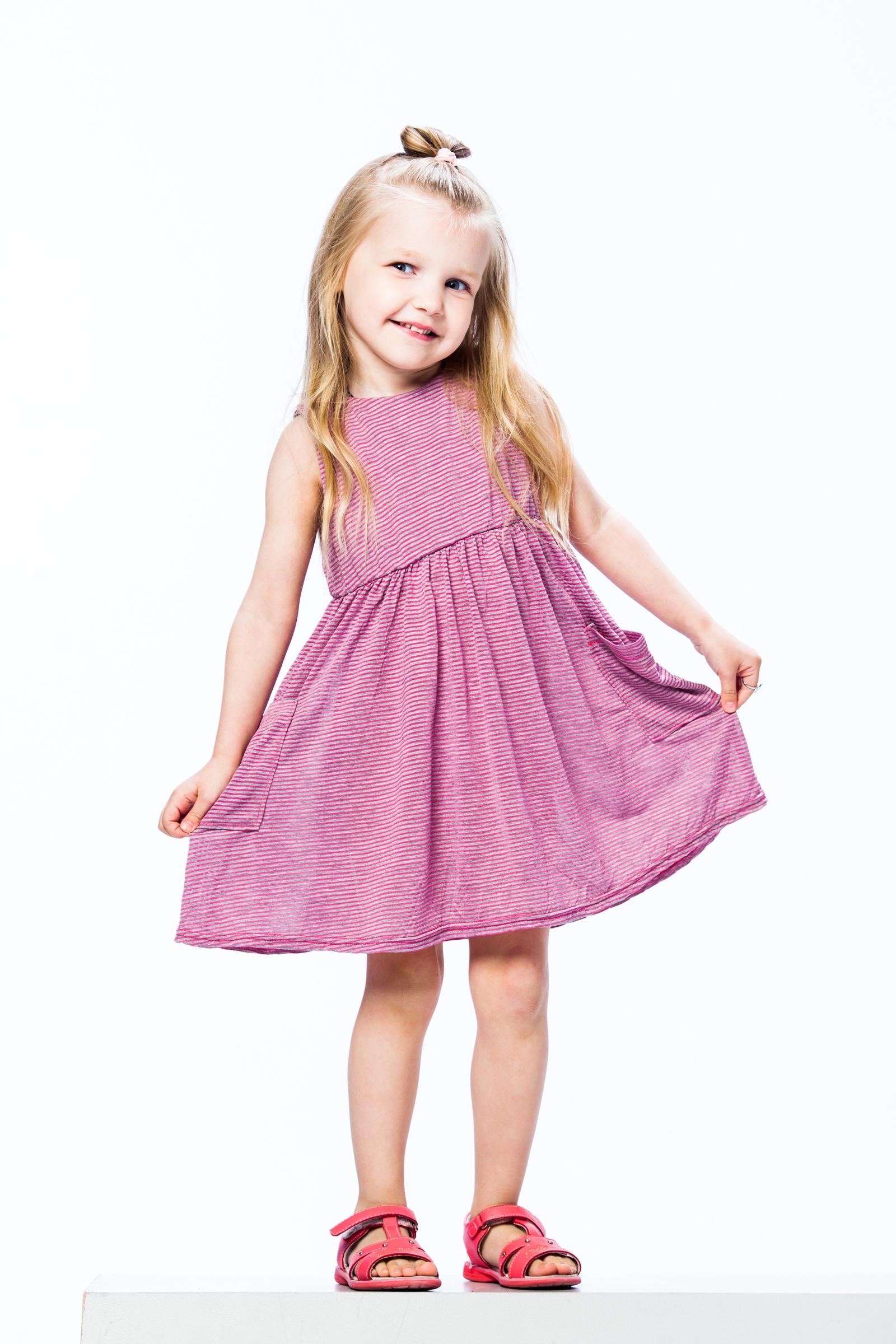 Платье ARCHYLAND, розовый 98 размер833Т_98Платье для девочкиТкань вискоза(100% хлопок)