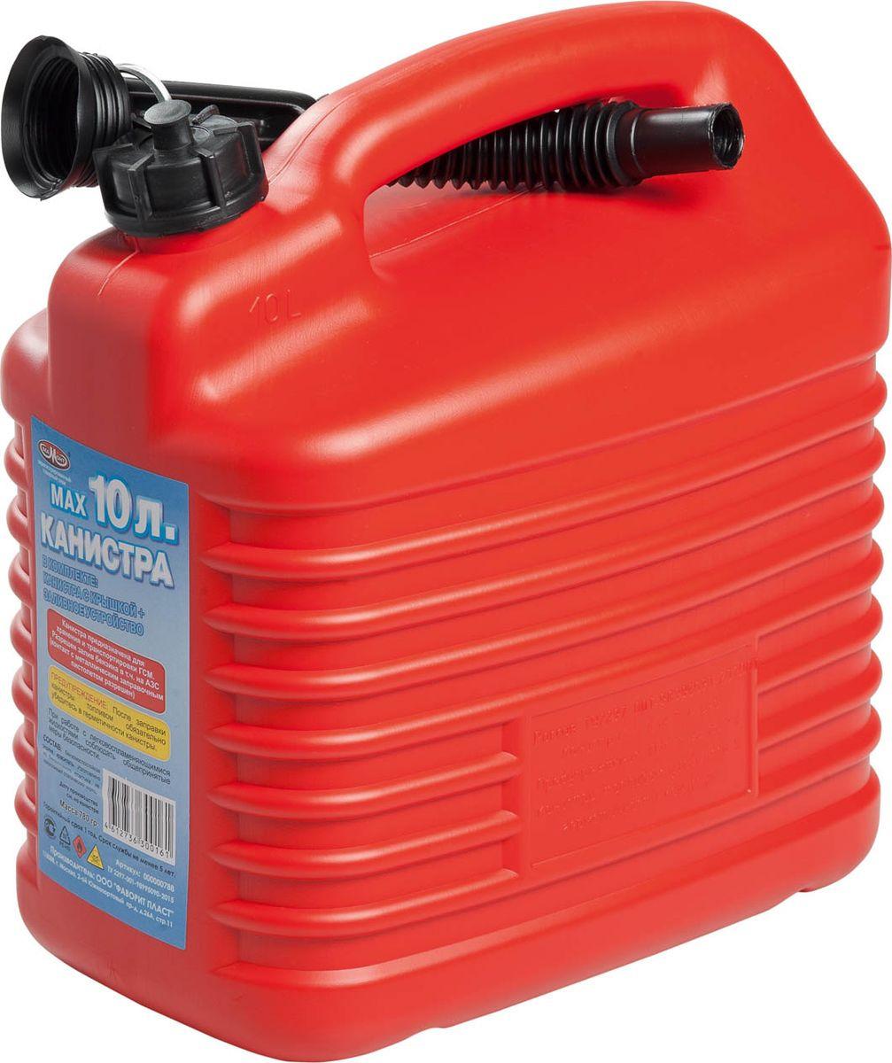 Канистра для ГСМ Мамонт, с заливным устройством 5 мм, красный, 10 л канистра для гсм skybear 10л красная