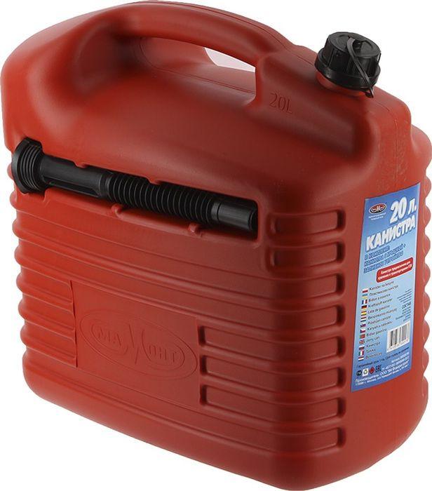 Канистра для ГСМ Мамонт, с заливным устройством 10 мм, красный, 20 л канистра для гсм skybear 10л красная