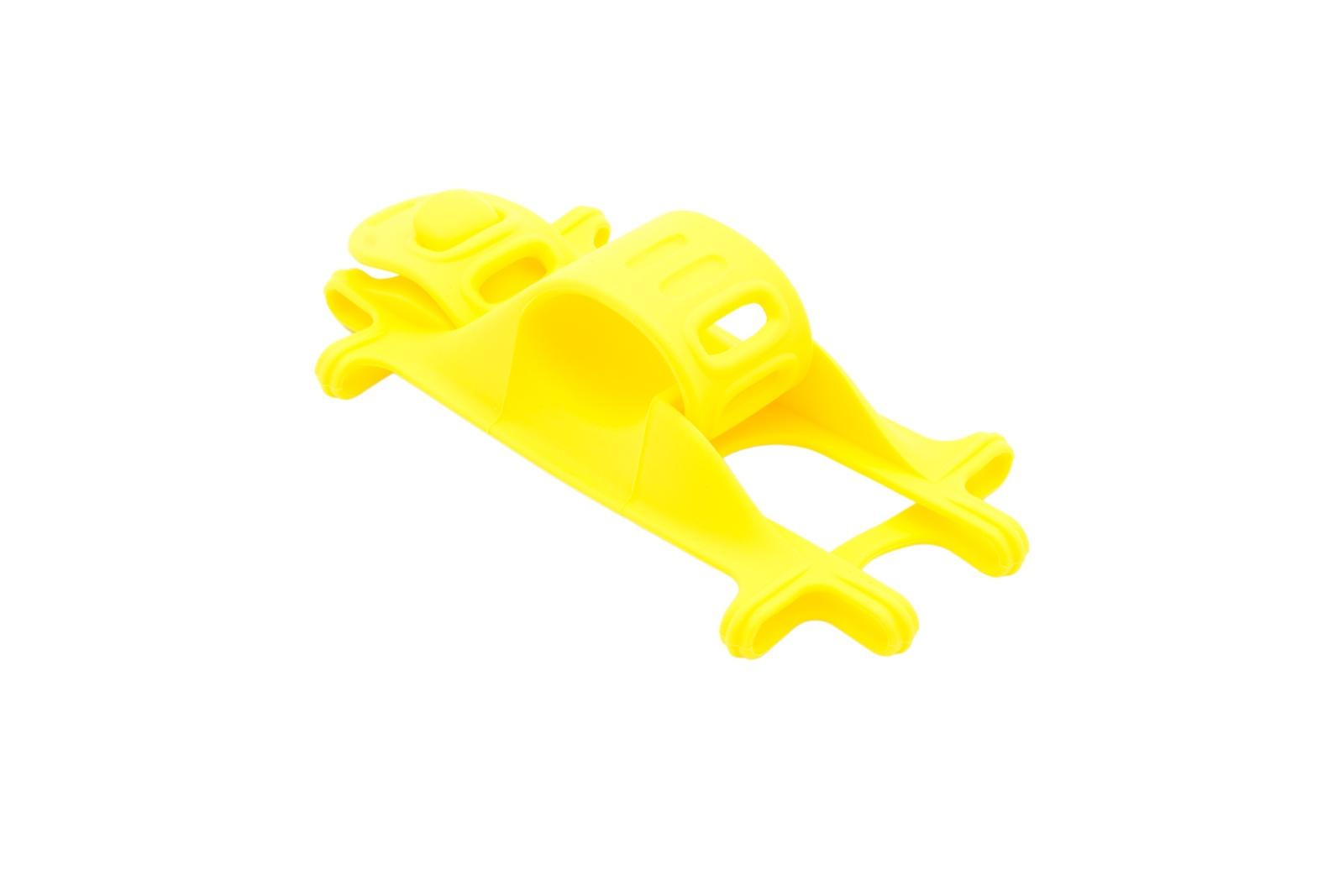 Кронштейн для крепления велосипеда Qumann Держатель QHB-01 велосипедный силиконовый универсальный жёлтый, желтый