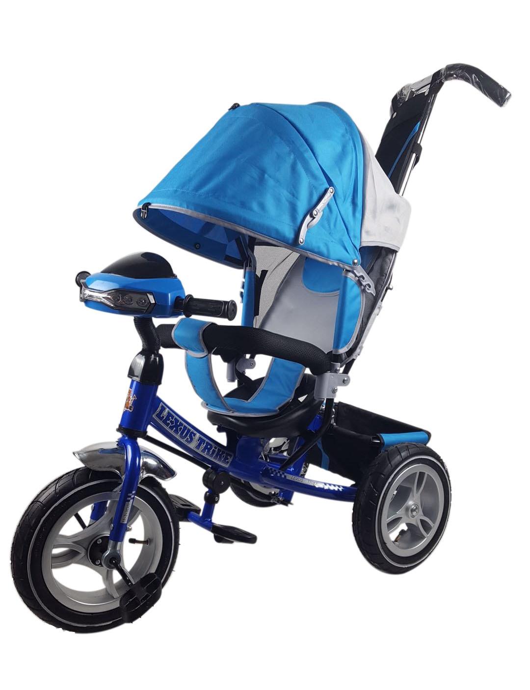 Велосипед Lexus Trike MS-0637 12/10 надувные, музыкальный, синий