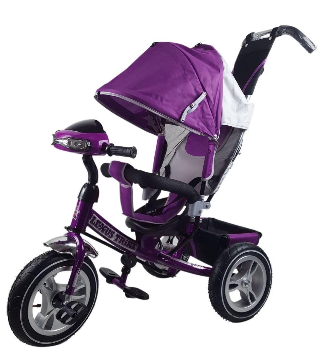 Велосипед Lexus Trike MS-0637 12/10надувные, музыкальный, фиолетовый