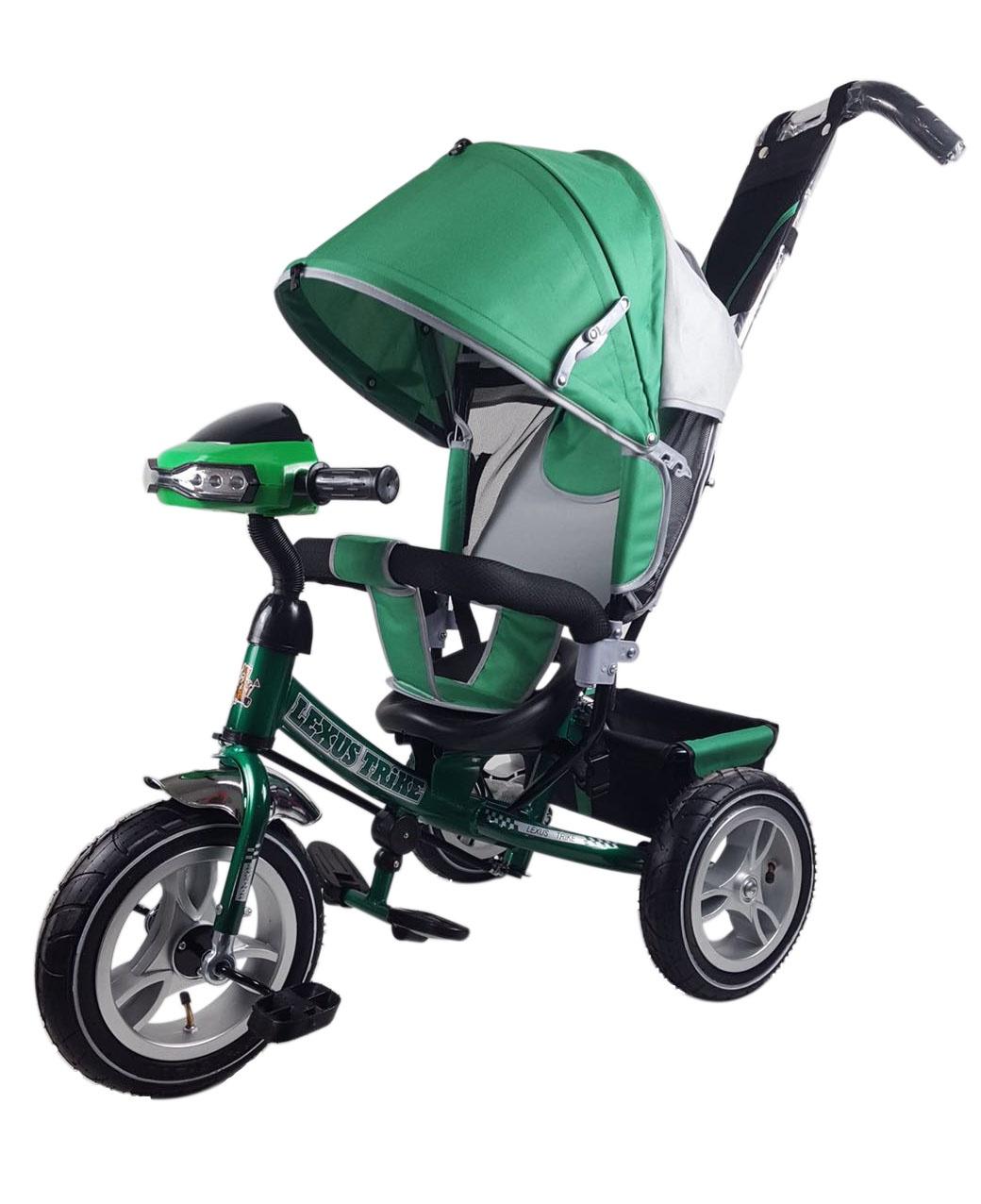 Велосипед Lexus Trike MS-0637 12/10 надувные, музыкальный, зеленый