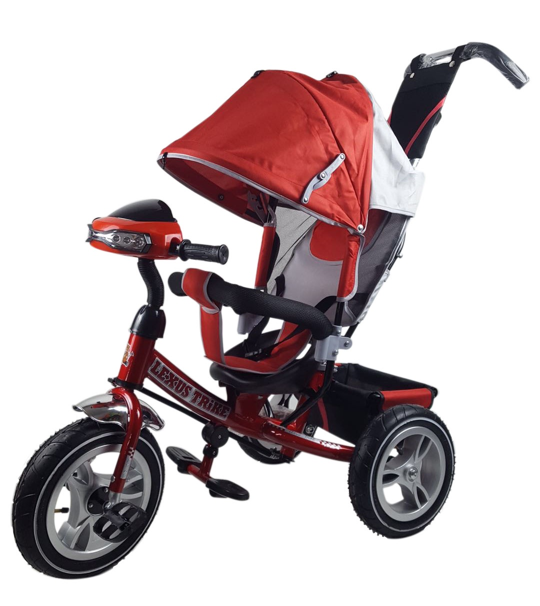 Велосипед Lexus Trike MS-0637 12/10 надувные, музыкальный, красный