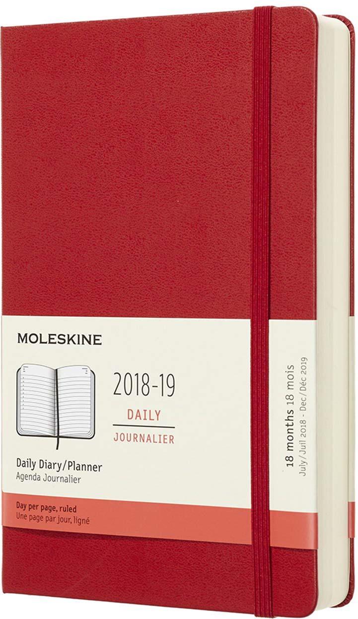 Ежедневник Moleskine ACADEMIC датированный, 592 листа, цвет: красный, 130х210 мм еженедельник moleskine classic wkly large 130х210мм 144стр красный