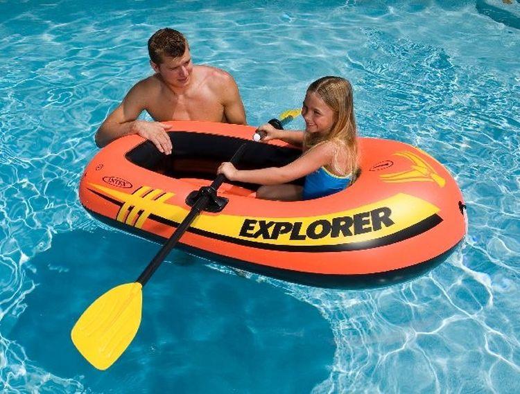 Лодка надувная Intex Эксплорер 100, с58329, оранжевый, 147 х 84 х 36 см лодка надувная hibernia et80