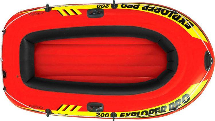 Лодка надувная Intex Эксплорер про 200, с58357, красный, 196 х 102 х 33 см цена