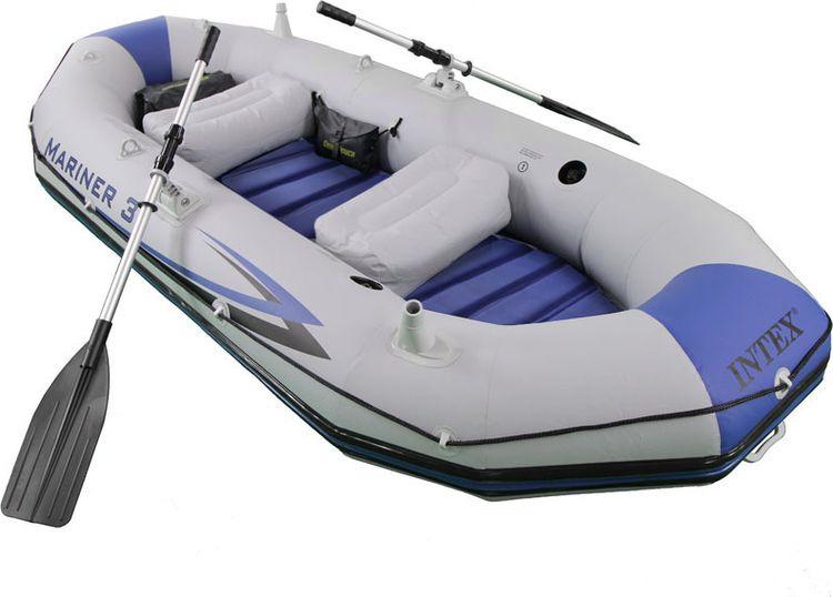 "Лодка надувная Intex ""Маринер 3"", с68373, белый, 297 х 127 х 46 см"