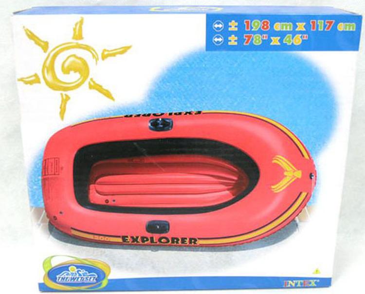 Лодка надувная Intex, с58330, красный, 185 х 94 х 41 см