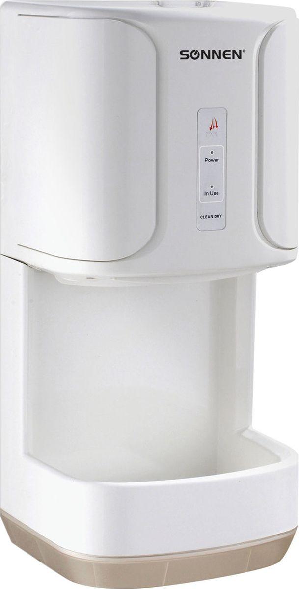 Сушилка Sonnen для рук с каплесборником, 1200 Вт, время сушки 15 секунд, белый Электросушилка предназначена для...